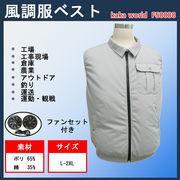 「夏の現場の救世主」風調服ベスト